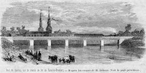 Most Łowicz (1861) na linii kolejowej z Warszawy - Bromberg, L'Illustration 1862