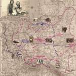 Mapa poróży Janiny-sepia