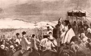 Poświęcenie cmentarza na Bródnie 1884a