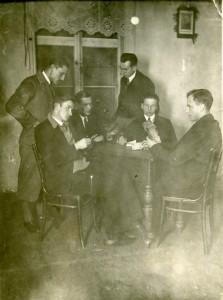 Pelcowizna Dom Ludowy brydż, początek lat 30-tych